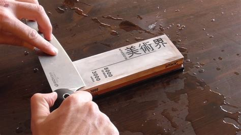 whetstone for kitchen knives 2018 how to sharpen a kitchen or chef s knife on a sharpening or whetstone to a razor edge