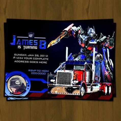 printable invitations transformers optimus prime transformers birthday invitation from