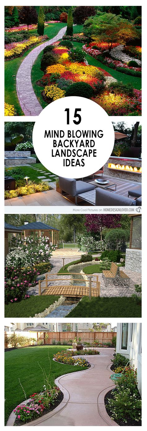 diy backyard landscaping ideas 15 mind blowing backyard landscape ideas bees and roses