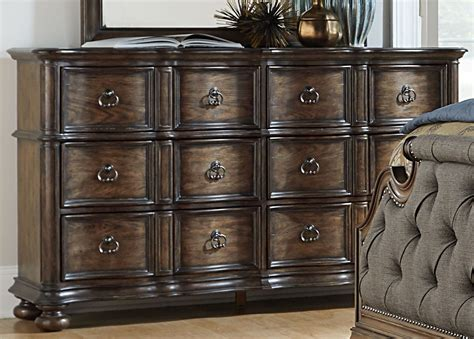 weston weathered oak 6 drawer dresser tuscan valley weathered oak 6 drawer dresser from liberty