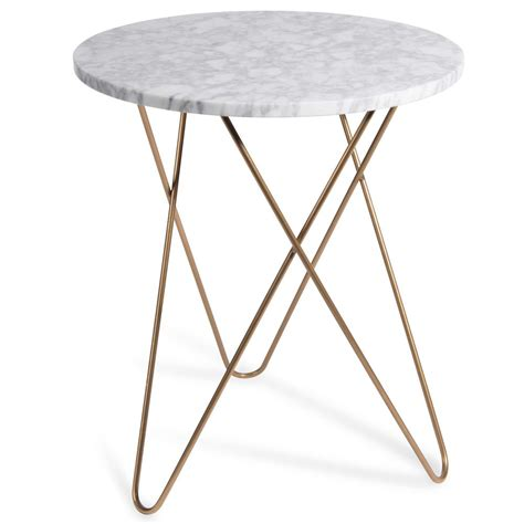 Table D by Siderno Marble Side Table D 40 Cm Maisons Du Monde