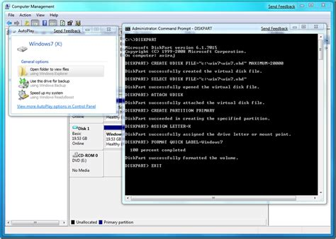 format vhd diskpart creating vhd using diskpart windows 7 support