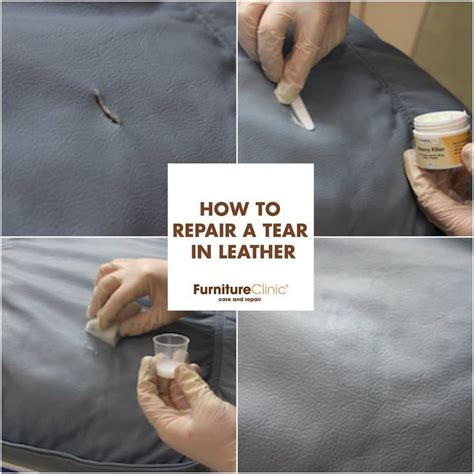 How To Fix Leather Tear by 17 Best Ideas About Leather Repair On