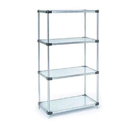 Nexel Shelf nexel galvanized 24x48x63 solid 4 shelf unit 24486sz