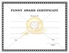 funny award certificate templates template sports awards