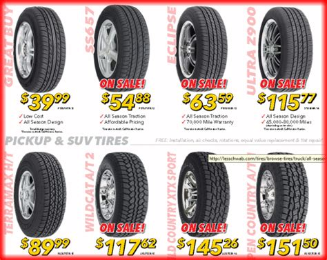 tyre sale tire sale at les schwab 2017 2018 2019 ford price