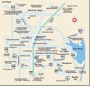 Map Of Las Vegas Area by Las Vegas Points Of Interest Map