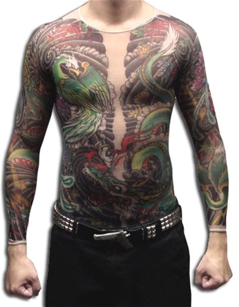 tattoo full body shirt men s geisha dragon full body tattoo shirt