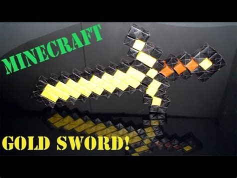 Origami Minecraft Sword - origami daily 431 minecraft gold sword no glue or