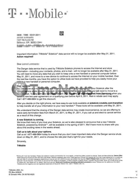 Complaint Letter For Loss Of Mobile T Mobile Sends Letter Regarding Danger Shutdown Offers 50 On Samsung Phones Tmonews