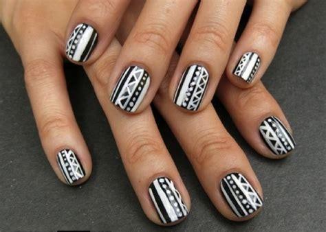 decorados de uñas de pies bonitos манікюр чорно білий нова мода краса і здоров я