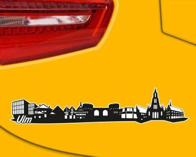 Autoaufkleber Ulm by Ulm Skyline Aufkleber Sticker Autoaufkleber City Gedruckt