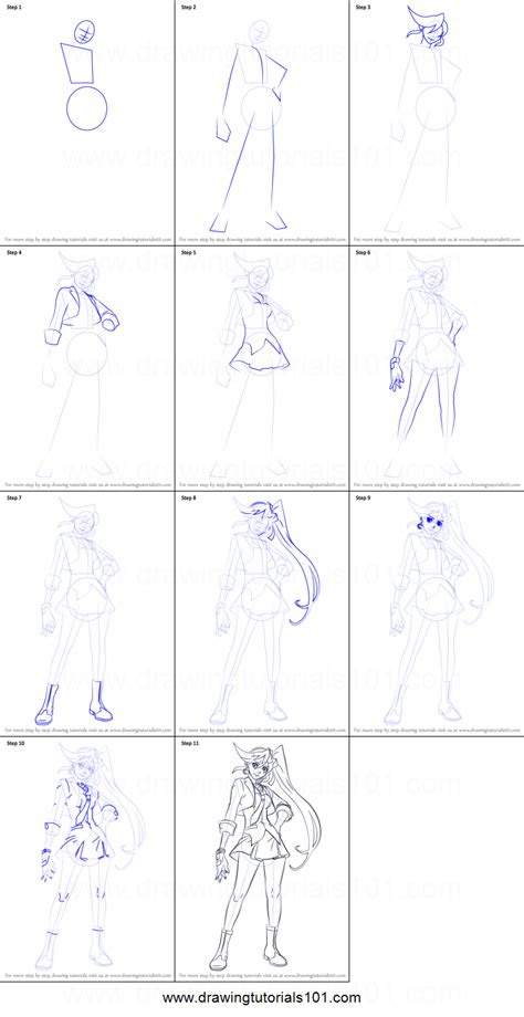 step by step how to draw athena cykes from ace attorney printable step