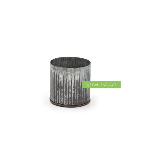 Galvanized Metal Vase by Galvanized Metal Vase We Can Package