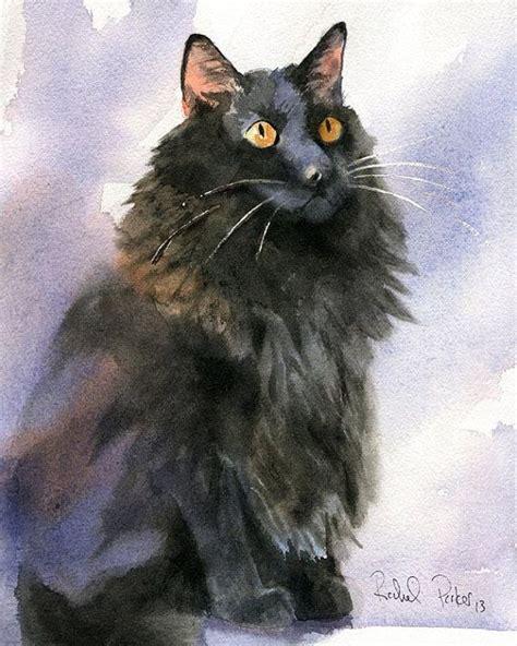 black cat painting designs original black cat painting watercolor by