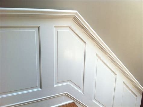 Wainscoting History Stair Wainscoting With Built In Handrail Diy Ideas