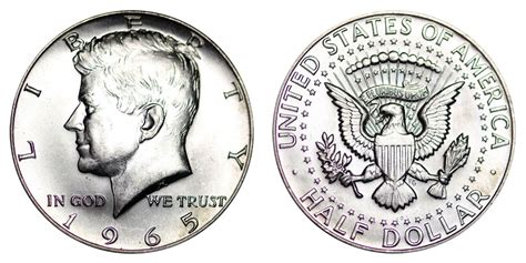 kennedy half dollar value chart 1964 50c accented hair