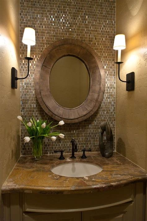 powder room backsplash ideas recessed basin cloakroom pinterest powder rooms