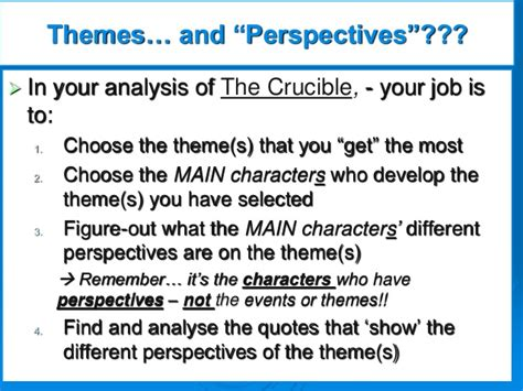 themes of injustice in the crucible perspectives in the crucible