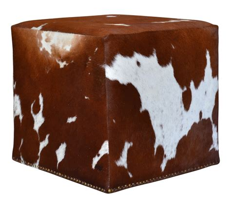 cowhide cube ottoman proffitt