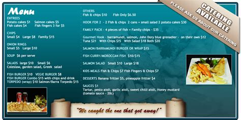 pics for gt fish and chips shop menu