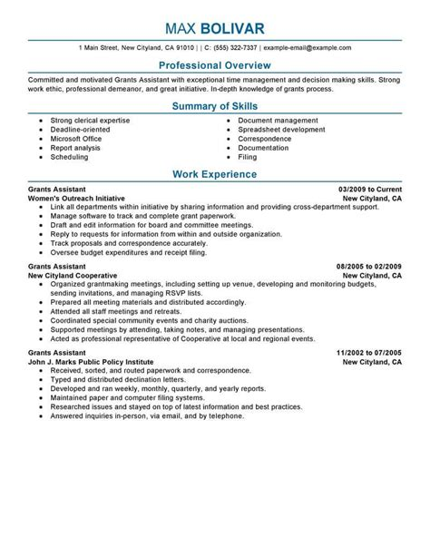 how to write a resume for an administrative assistant position best grants administrative assistant resume exle