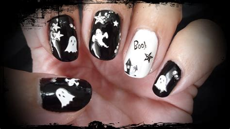 imagenes de uñas halloween 2014 dise 209 o de u 209 as faciles con stickers para halloween youtube