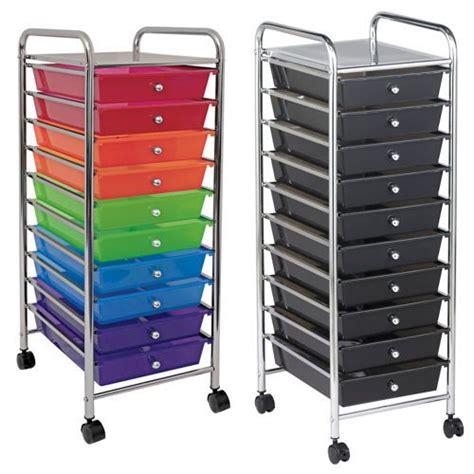 8 drawer rainbow cart 10 drawer mobile organizer cart by ecr4kids jolan s room