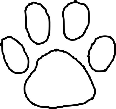 coloring page tiger paw free a wolf paw print coloring pages
