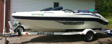 sea doo boat with outboard seadoo jet boat 18ft challenger 240hp mercury great