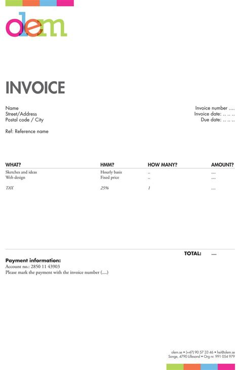 Graphic Design Invoice Template Uk | 20 best invoices inspiration images on pinterest invoice