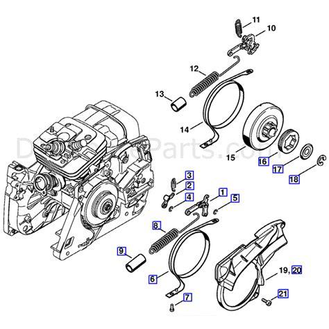 stihl ms 361 parts diagram stihl ms 361 chainsaw ms361 w parts diagram chain brake
