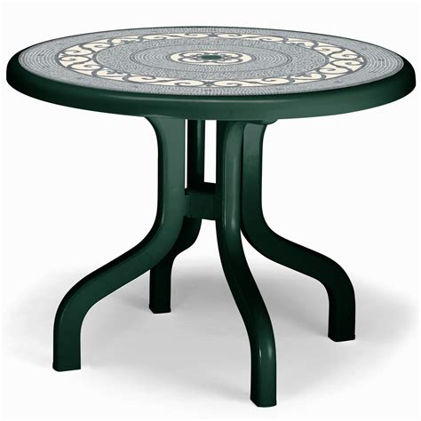 flexible table round plastic patio table with removable legs