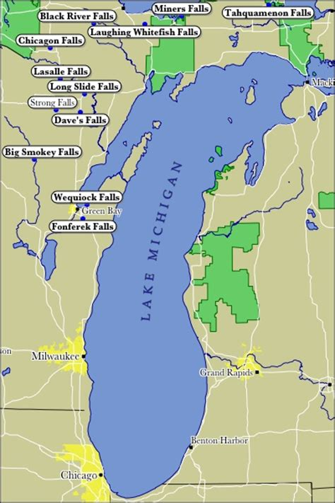 lake michigan map map of lake michigan my