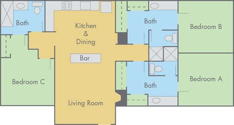 3 bedroom and 3 bathroom apartments suites at adobe floor plan 3 bedroom 3 bathroom flat