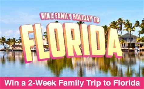 Free Trip Giveaways - win a free trip for 4 to florida