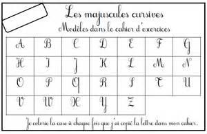 lettere corsive maiuscole lettres majuscules cursives rugueuses loustics