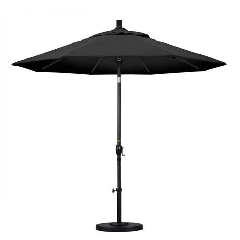 Black Patio Umbrella California Umbrella 9 Ft Aluminum Push Tilt Patio Umbrella In Black Olefin Gspt908302 F32 The