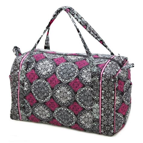 Quilted Bag Pattern by Quilted Duffel Bag Fuchsia Damask Pattern
