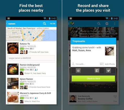 foursquare for android foursquare for android receives an update with new ui