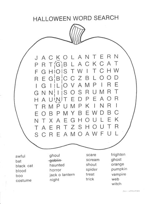 halloween coloring pages word searches 7 best images of printable halloween word search pdf