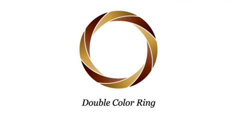 logo design photoshop psd double color ring logo design psd file free download