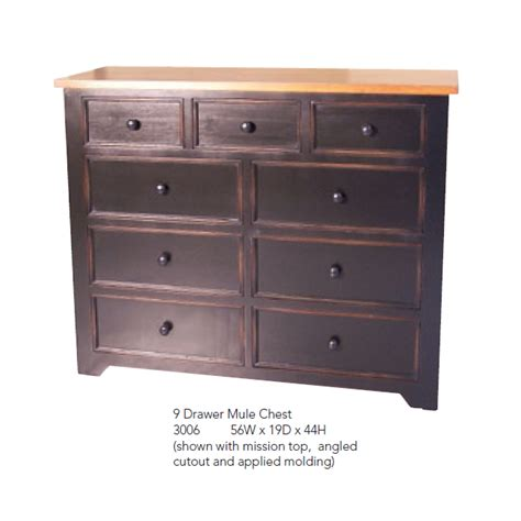 9 drawer mule chest dresser folkart interiors