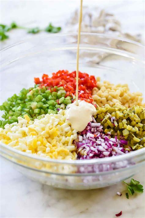 best salad dressing recipe how to make classic macaroni salad foodiecrush