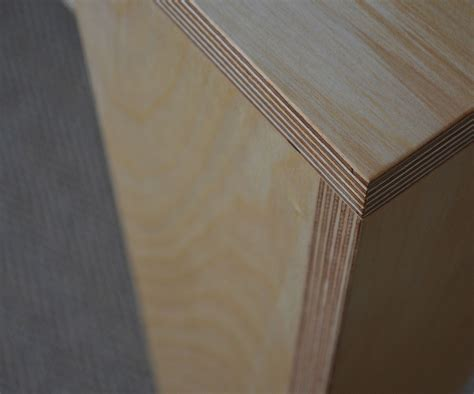 table desk with drawer from one sheet of ply designed