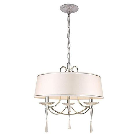 Hton Bay Pendant Lights Hton Bay Halina Collection 3 Light Chrome Drum Pendant
