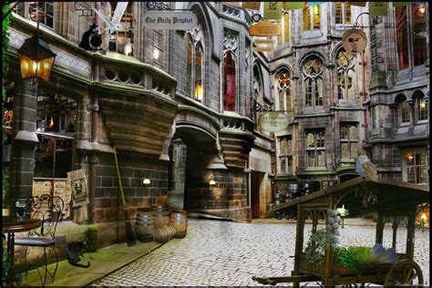 Harry Potter Wall Mural harry potter diagon alley wall mural custom wall