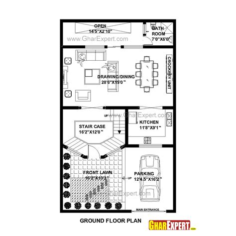50 square yard home design house plan for 30 feet by 50 feet plot plot size 167