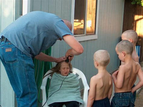 father oif teenager cut hair to look like george jefferson buzz awkwardfamilyphotos com