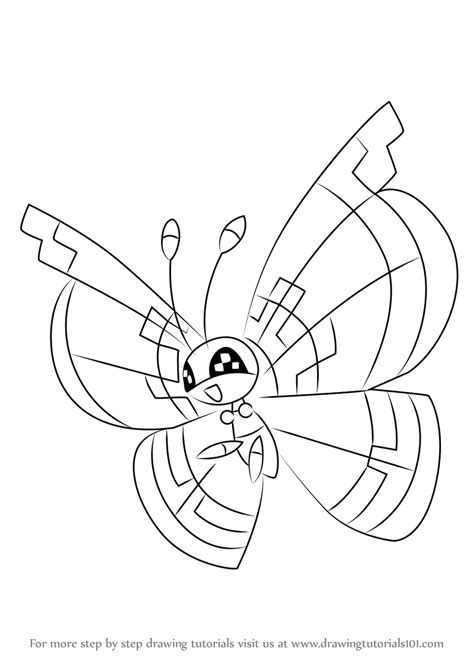 where to draw learn how to draw vivillon from step by